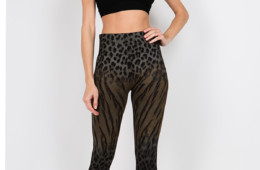 High waist full length legging with Bengal Leopard sublimation print