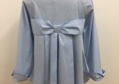 Blue blouse with bow in back