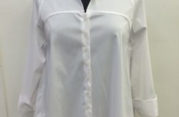 White blouse with bow in back