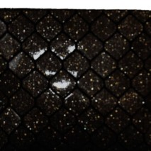 Honeycomb clutch in glitter finish